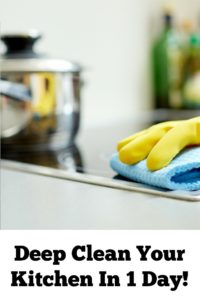 Want to Deep Clean Your Kitchen In 1 Day?? Be sure to check out these easy steps to get it done fast before the guests show up at your house!