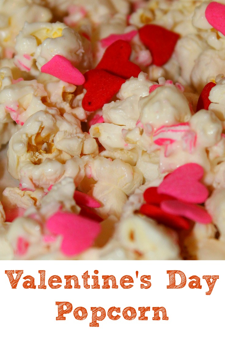 Easy to make Valentines day popcorn!!! The flavor is great and the kids love the way the popcorn fits the holiday as well!