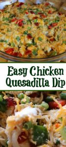 This Easy Quesadilla Dip is sure to be a hit with any tailgating get-together you host! Plus it takes less than five minutes to make up as well!