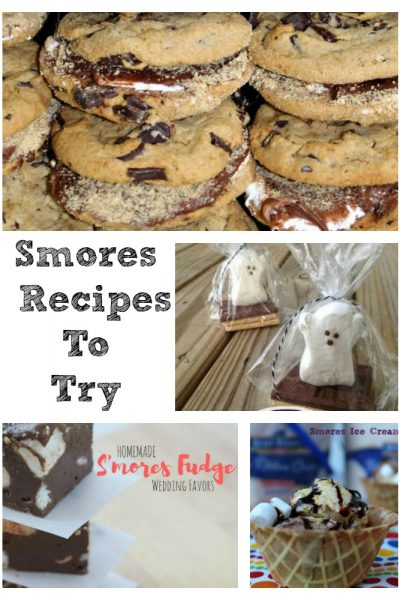 These Smores Recipes Ideas are perfect for a summer treat any time of the year! All are sure to be a hit with the family or get together.