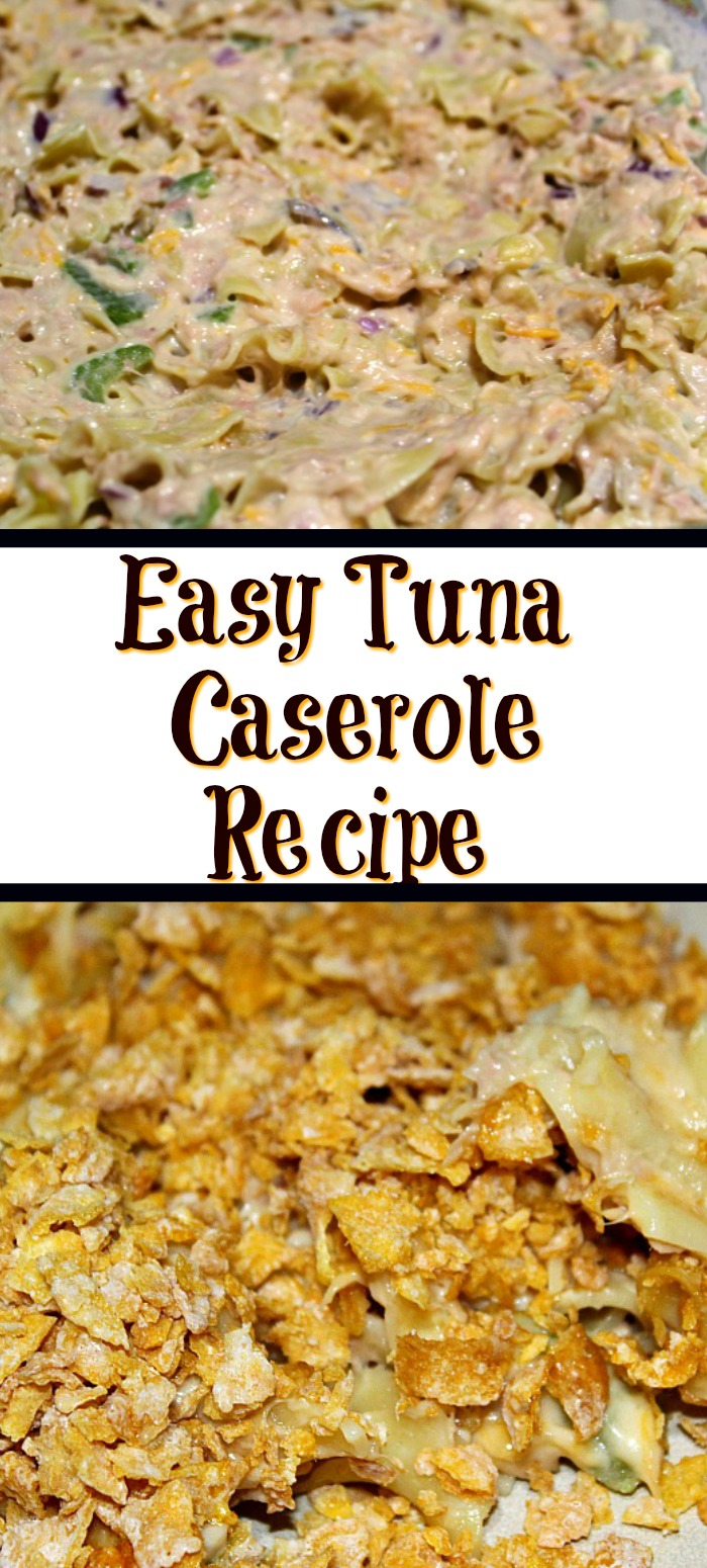 This Tuna Casserole is sure to be a hit with your family! Plus it's quick, frugal, and easy to make casserole for a weeknight dinner as well!