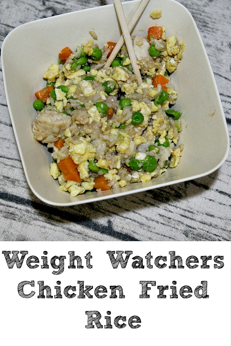 Weight Watchers Chicken Fried Rice is a great dinner and one that my kids love to eat!! Be sure to check out this easy to create protein heave meal!