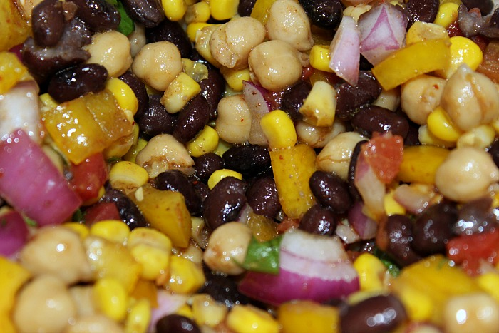 This Cowboy Caviar aka bean salad is the perfect light dish to make! Perfect for bbqs, tailgating, light lunches and full of protein.