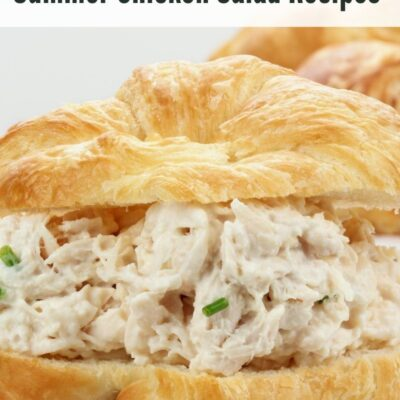Chicken salads can make the perfect summer lunch! Plus if you make it at home you can make it how you want and frugally as well.