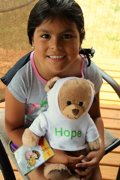The Hope Bear For Childhood Cancer Awareness is perfect from Extended Stay America to give bears to those with cancer and to help to raise funds as well.