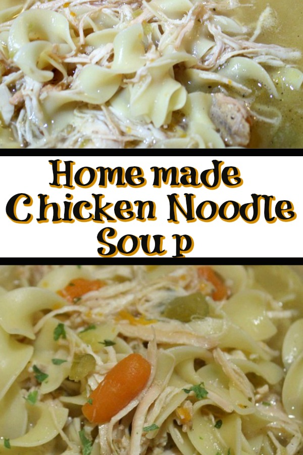 easy stove top homemade chicken noodle soup  cook eat go