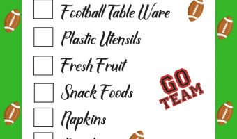 Free Family Tailgating Printable Checklist