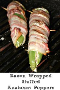 These grilled Bacon Wrapped Stuffed Anaheim Peppers are perfect to make as an appetizer for the holidays or even tailgating! Plus keto friendly as well.