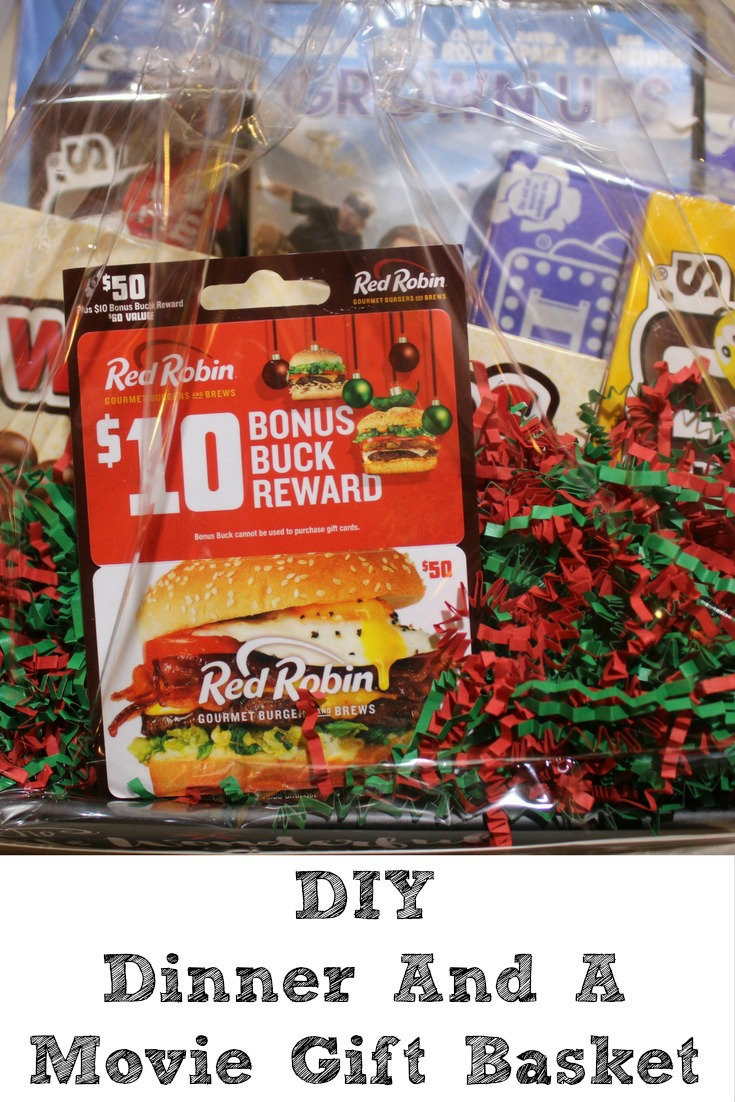 This DIY Dinner And A Movie Gift Basket Idea is the perfect gift to make! Plus you can get bonus cards at Walmart and customize for anyone.