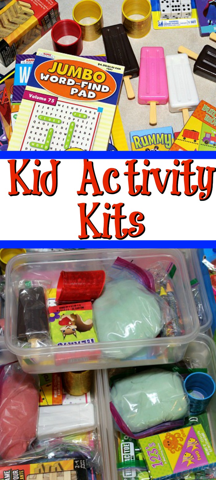 These Kid Activity Kits are perfect for Holiday Gatherings or for on the road and traveling!! They are so easy to make! Plus they pair up great with the Homemade Play Dough Recipe using Koolaid.