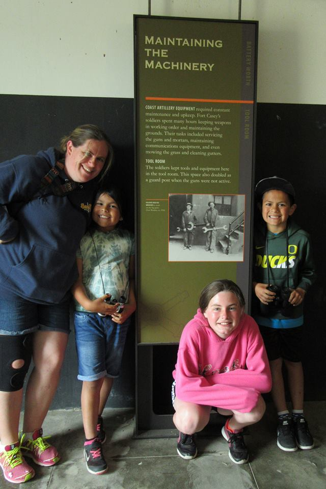 There is a lot to see and do at Fort Casey State Park!! Great way for the kids to explore and also learn about history, as well as explore a lighthouse!