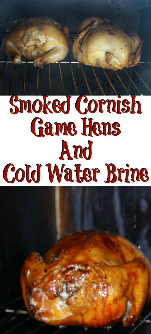 Smoked Cornish Game Hens are perfect to smoke for a dinner!! They are full of flavor with a brine and leftover chicken works amazing for soups and more dinners adding, even more, flavor as well!