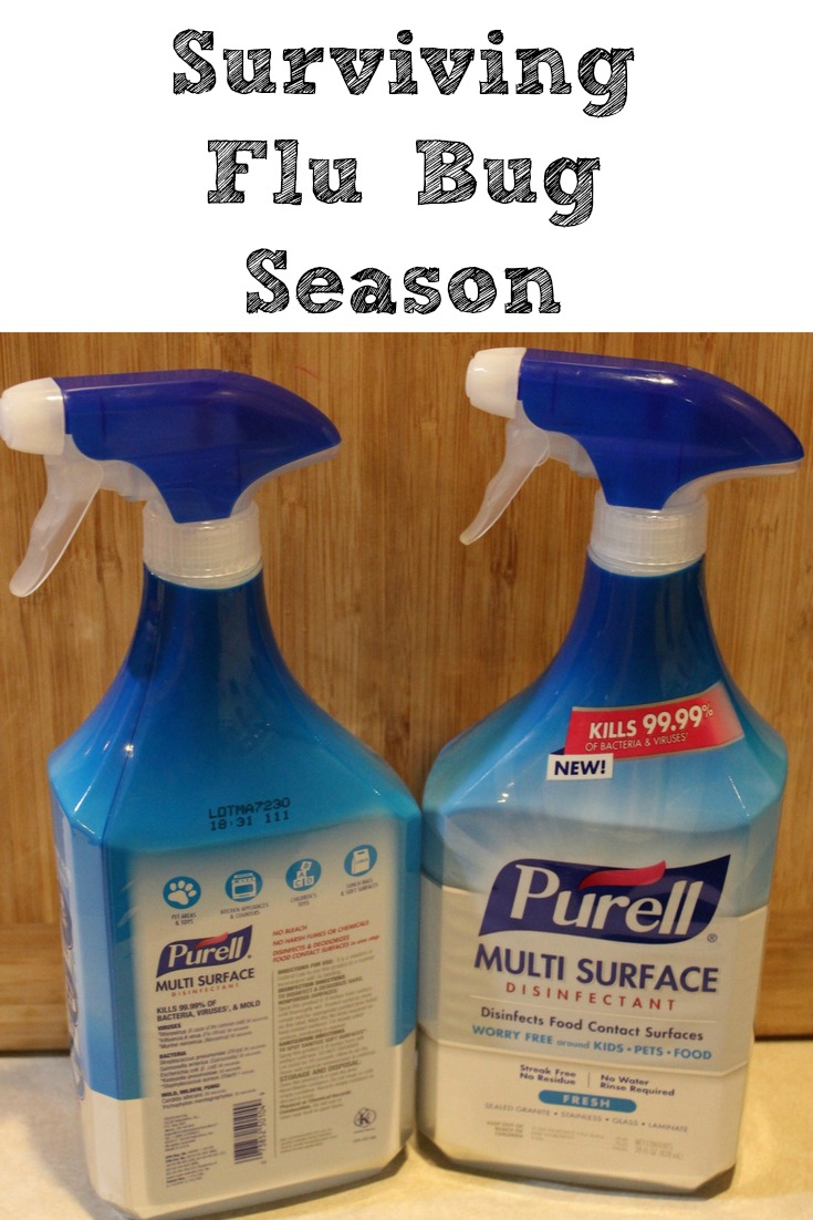 Surviving Flu Bug Season can be much easier to do with al little preparation and the right products!! Knowing how to stop spreading the bug can shorten it.