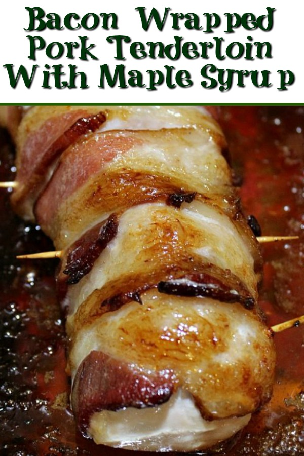 This Bacon Wrapped Pork Tenderloin is the perfect dinner to make!! Pair this up with fresh greens for an amazing easy family dinner to enjoy!!