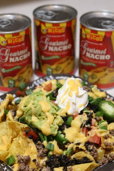 A DIY Nacho Bar is the perfect way to have an easy time tailgating for any game! Plus this also makes for a laid back way to serve as well, since every one makes what they want and can just snack later on.