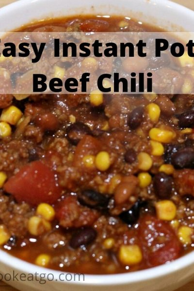 This Instant Pot Beef Chili is so easy to make and will be a hit with the family! I get all the ingredients in bulk or on great sales to always have on hand as pantry staples for our family dinners!