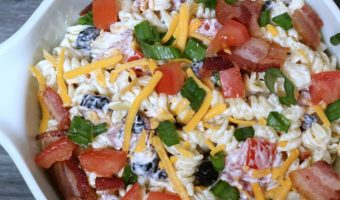 Easy Bacon Ranch Pasta Salad