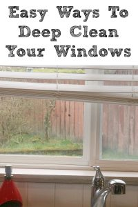 These Easy Ways To Deep Clean Your Windows are the perfect way to start off your spring cleaning!! From tracks, to frame, to the window sill, to window treatments, and the window its self it will brighten up any room in your house!! Plus it makes the process faster when you have a clear plan how to tackle the project!