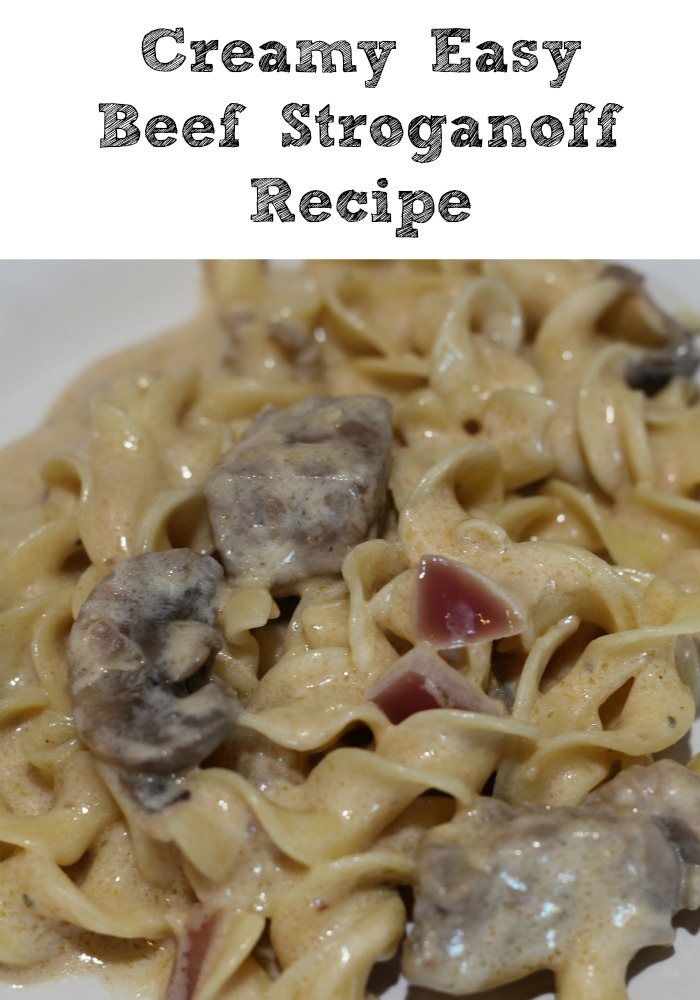 This Creamy Easy Beef Stroganoff Recipe is perfect to make for a quick weeknight dinner and will be full of flavor!! Making homemade Beef Stroganoff takes less than an hour and also when you make Beef Stroganoff with sour cream it makes the perfect comfort food!