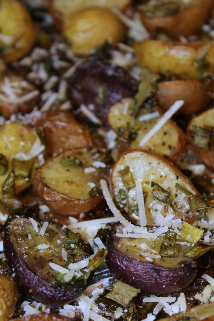 These Oven Roasted Baby Potatoes are the perfect side item to pair up with the main course! Cut in half and oil them up with some seasoning or parmesan cheese to complete your dinner, plus potatoes are in season almost year round as well.
