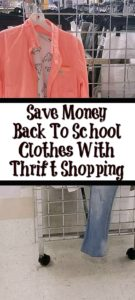 Save Money For Back To School Clothes With Thrift Shopping! Thrift shopping is budget friendly but it is also the perfect way to build up your wardrobe to!!
