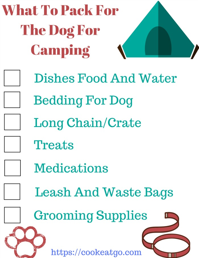 The perfect printable check list for Camping with dogs is a lot of fun! However knowing What To Pack For Camping With Dogs will make the experience more enjoyable for both humans and dogs!
