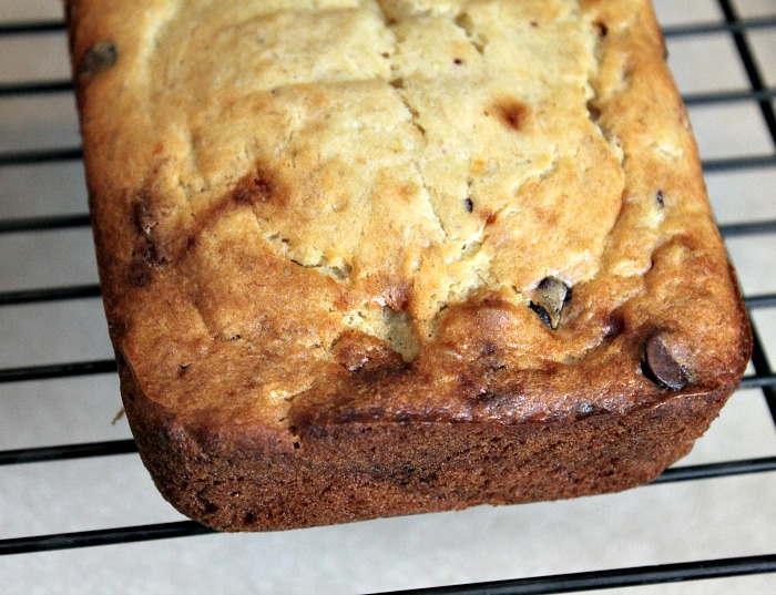 This Chocolate Chip Banana Bread is so easy to make! Plus it is the perfect fall and winter bread to bake as a gift or have with coffee as well!