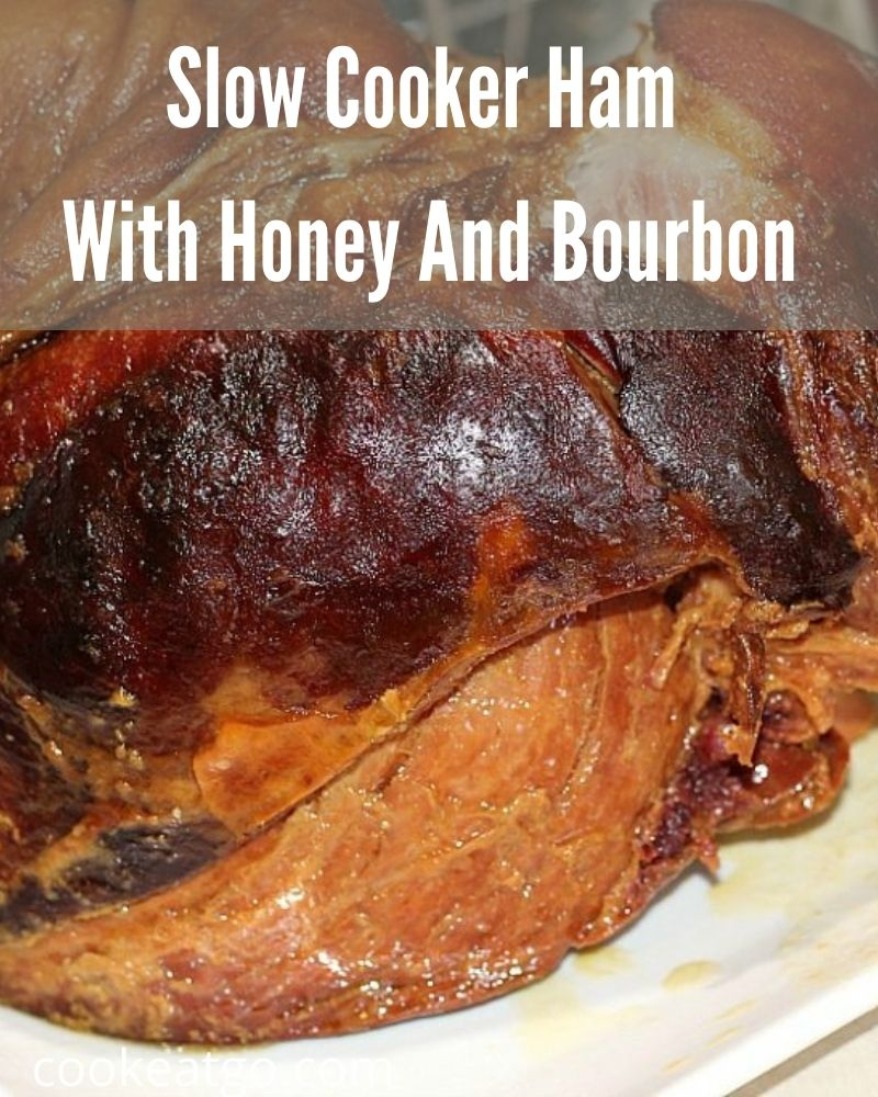 This Slow Cooker Ham With Honey And Bourbon is a great twist on a dish for Christmas, Easter, and Thanksgiving! The perfect flavor for ham!