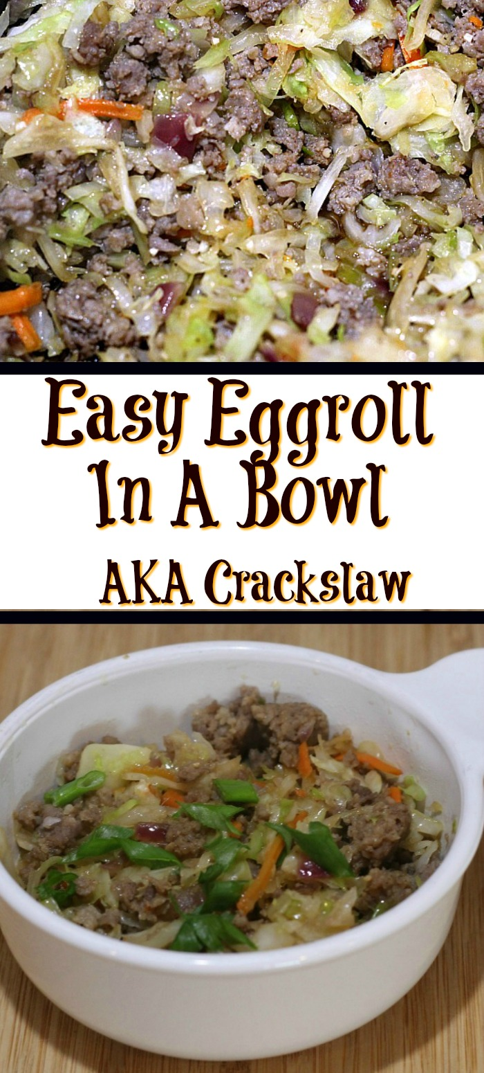 This Easy Egg Roll In A Bowl Recipe AKA Crack Slaw is perfect quick dinner to make!! Plus it's also keto and low carb as well.
