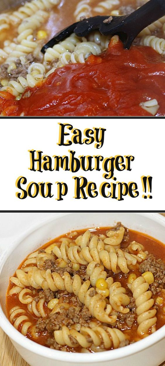 This Hamburger Soup Recipe is kid friendly! Plus its a easy and quick for a busy weeknight. Made out of pantry items its perfect to whip up last minute!