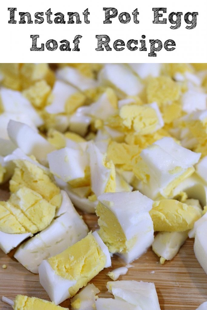 Instant Pot Egg Loaf Recipe is perfect to batch make hard boild eggs to be chopped for salads, pasta salads, and potato salads! Save time and less hassle!