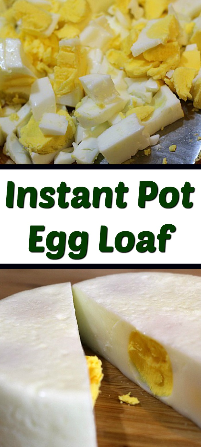 Instant Pot Egg Loaf Recipe is perfect to batch make hard boiled eggs to be chopped for salads, pasta salads, and potato salads! Save time and less hassle!