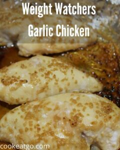 This Garlic Chicken is easy to make and a hit with the whole family!! Plus it is also low weight watchers points as well as fulling and tasty.