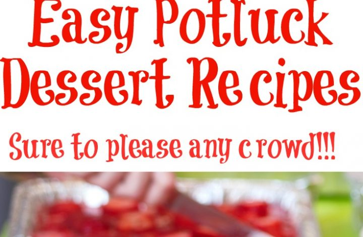These Easy Potluck Dessert Recipes are sure to be a crowd pleaser! Easy to make and take on the go they will be a hit at BBQs and potluck events all year!