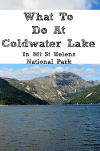 What To Do At Coldwater Lake In Mt St Helens National Park!! With fishing, boating, swimming, and hiking there is plenty to spend the day being busy!