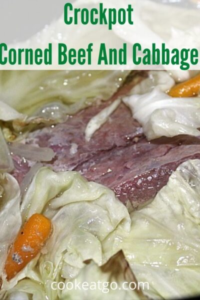This Crockpot Corned Beef And Cabbage Recipe is perfect to make for St Patrick's day dinner and requires no prepwork! Just add in carrots and potatoes.