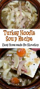 This Smoked Turkey Noodle Soup is perfect to use up any leftover turkey from any holiday dinner! Full of flavor and also perfect to freeze for later on.