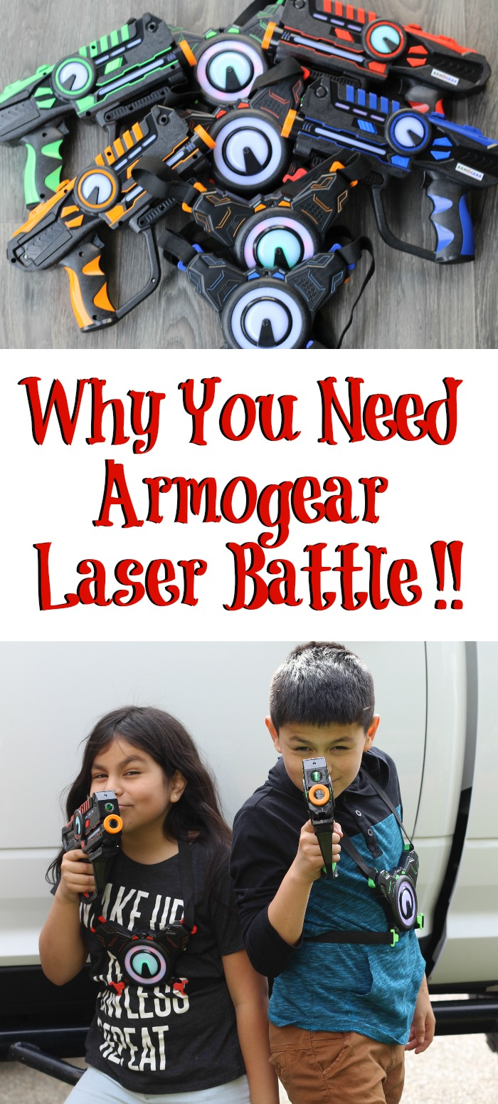 Why You Need Armogear Laser Battle For Your Kids! Summer approaching this is the perfect way to keep kids out side and active, and playing with friends.