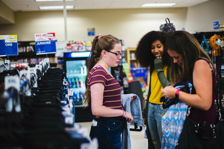 Teaching Your Teenager To Shop On A Budget For Back To School can be hard! Set a budget for them and let them see how far it stretches with thrift stores!