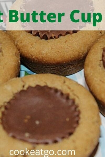 Stuffed with a peanut butter cup these Peanut Butter Cup Cookies are amazing! Make in a muffin pan for the perfect peanut butter treat!