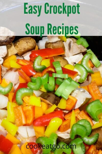 These Easy Crockpot Soup Recipes are perfect for busy weeknights and cold fall days! The aroma of soup in the crockpot makes the house cozy!