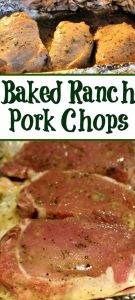 This Oven Baked Ranch Pork Chops Recipe is so easy to make for a quick dinner!! With only a couple of pantry ingredients it can be thrown together in minutes!