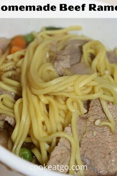 This Easy Homemade Ramen Recipe is the perfect way to enjoy a bowl of ramen at home! Plus adding in extras to change the taste is easy to do as well.