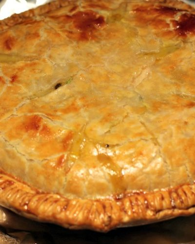 This Easy Homemade Chicken Pot Pie Recipe is perfect comfort food for fall weather! Mix together the filling and use store-bought pie crusts to save time!