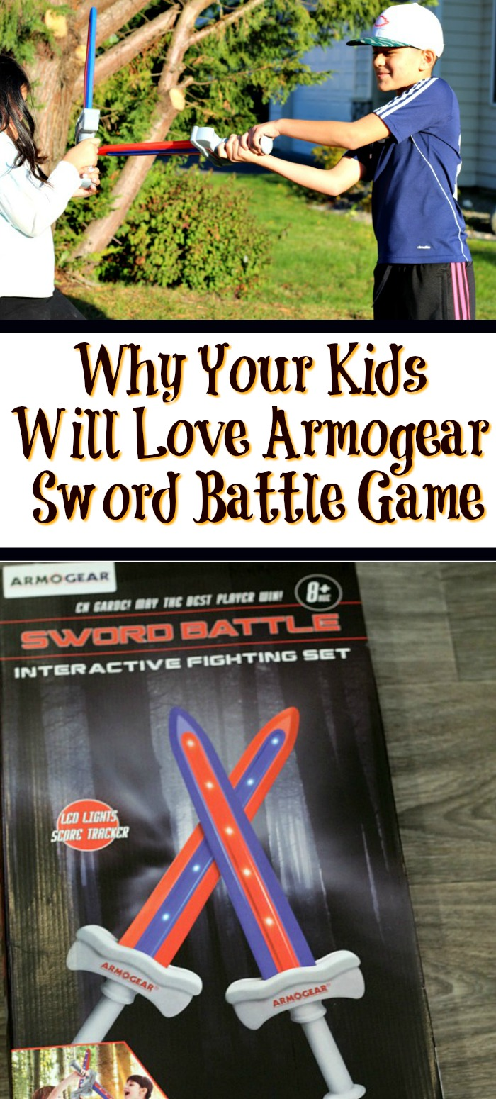 This Armogear Sword Battle Game is the perfect way to get your kids active and using their imagination! With lights and sounds, the battle is fun!