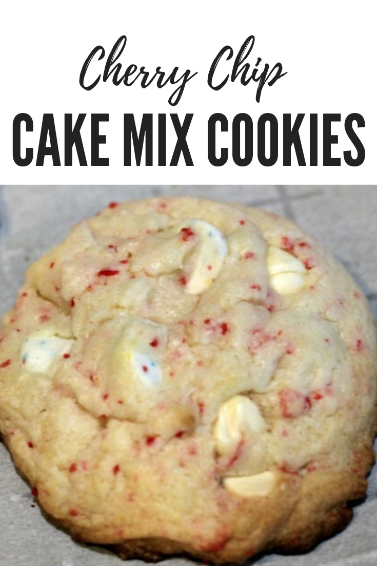 Cherry Chip Cake Mix Cookies Recipe is the perfect to make easy cookies out of a box cake mix!! The cherry flavor is the perfect light flavor for a cookie