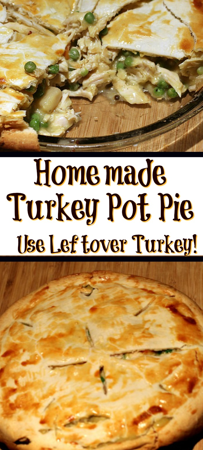 This Homemade Turkey Pot Pie Recipe is the Perfect Way To Use Up Leftover Turkey! Plus it's the perfect comfort food too!