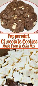 This Peppermint Chocolate Cookies Recipe Made From A Cake Mix is perfect to make for the holidays!! An easy recipe and full of all the holiday flavors!!