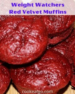 This Red Velvet Weight Watchers Muffins Recipe is so easy with only three ingredients! Perfect for satisfying a sweet tooth with low Freestyle Smartpoints!