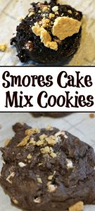 This Smores Cake Mix Cookies Recipe is the perfect way to make Smores in the kitchen! Use mallow bites and crushed graham crackers for the ultimate treat!